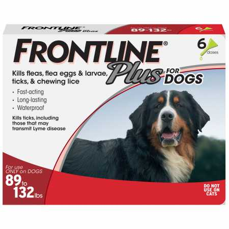 a75ed0939d0 Frontline Plus for Dogs 89132 lbs RED 6 MONTH f50cf8 - safety ...