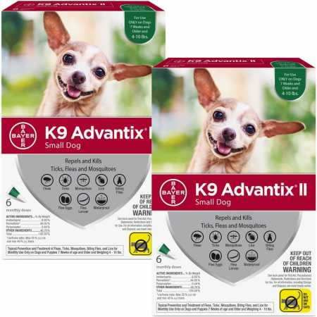 12 MONTH K9 Advantix II GREEN For Small Dogs Upto 10 Lbs