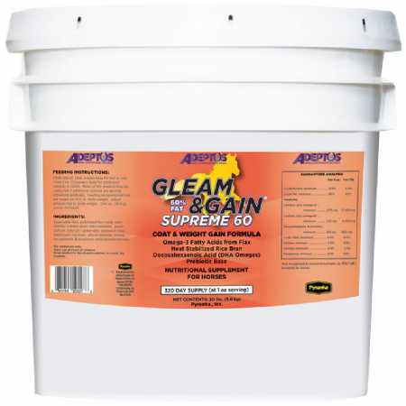 Adeptus Gleam  Gain Supreme 60 for Horses  20 lbs  classic fashion