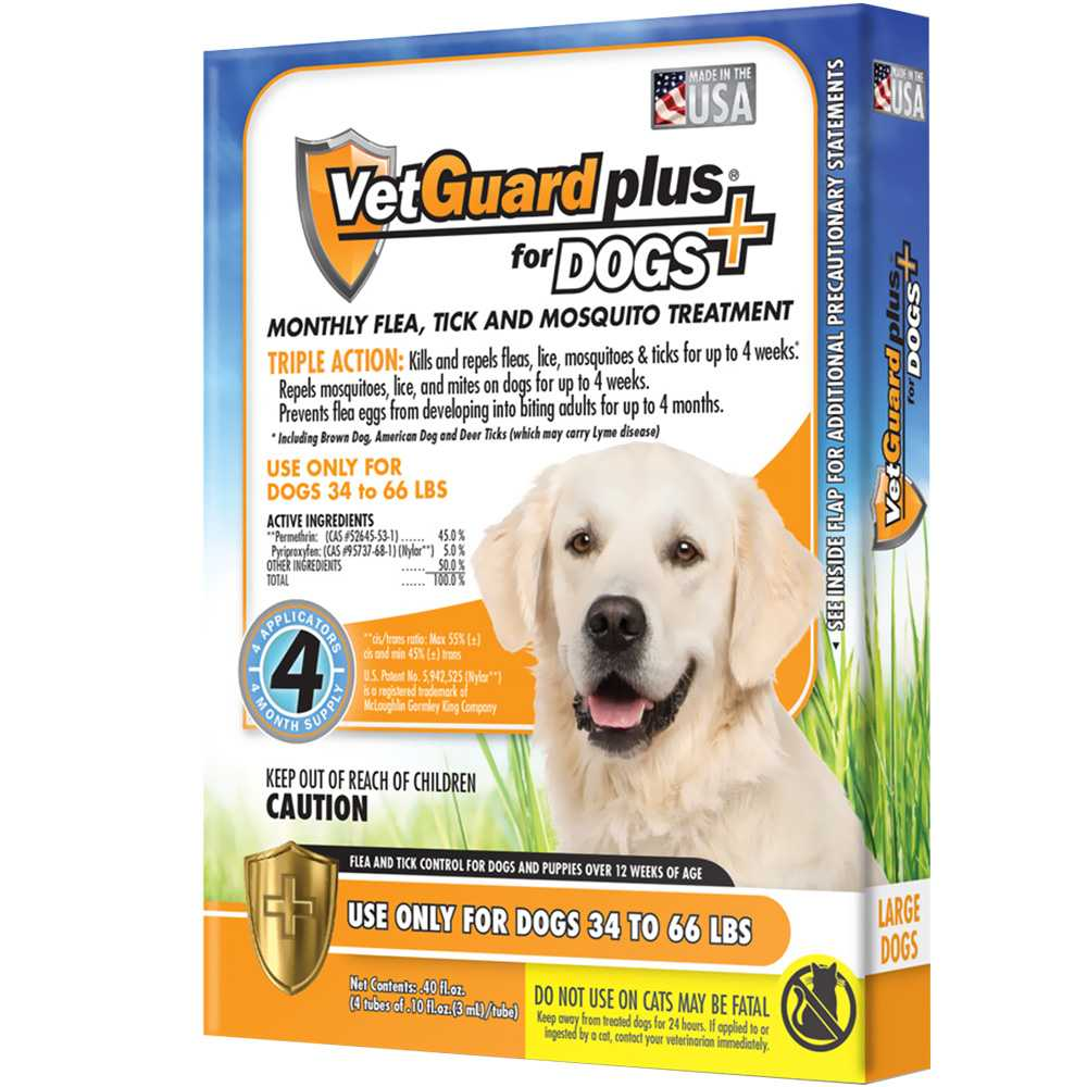 Image Is Loading Vetguard Plus For Large Dogs 4 Month Supply